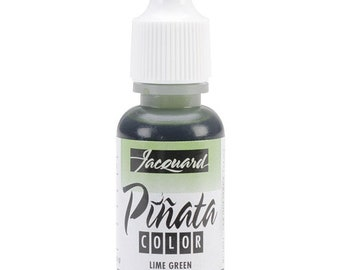 Pinata Color alcohol ink by Jacquard, .5oz bottle, Lime Green