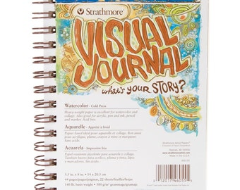 "Strathmore Visual Journal Watercolor 5.5""X8"" - 140 lb"