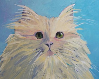 INFORMATION Custom Pet Portrait, Custom Pet Painting, Custom Dog or Cat Painting, Expressive Style