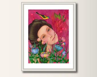 Art Print Spring, Print, Print of Original Acrylic Painting, Art Poster