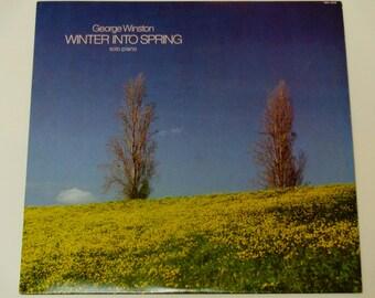 George Winston - Winter Into Spring - New Age Music - Solo Piano - Windham Hill Records Reissue 1984 - Vintage Vinyl LP Record Album