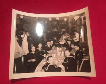 US Navy 1950's Party Photograph