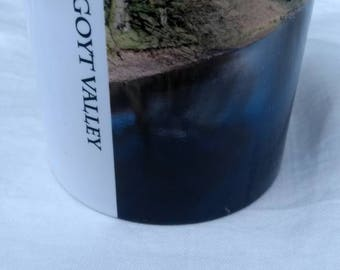Goyt valley water mug,printed from original photograph, of the Goyt valley water,Goyt valley is located between Macclesfield and buxton