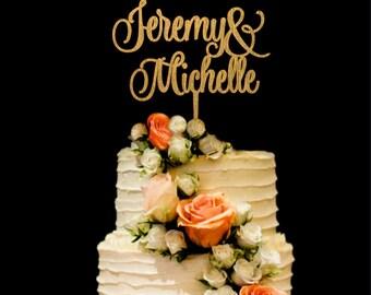 Names Wedding Cake Topper Mr Mrs Cake Topper