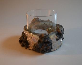 Raku Ceramic ashtray/Candle Holder