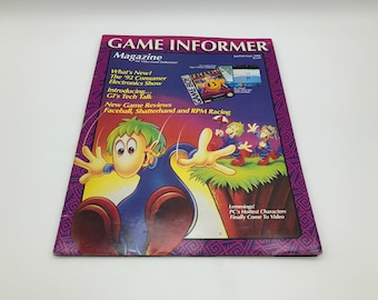 Vintage 1992 game informer Magazine featuring Lemmings on the cover, Rare