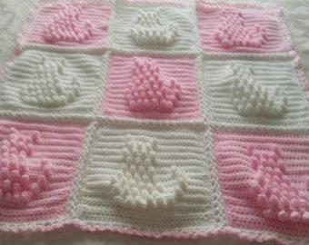 Cute pram blanket kitty design