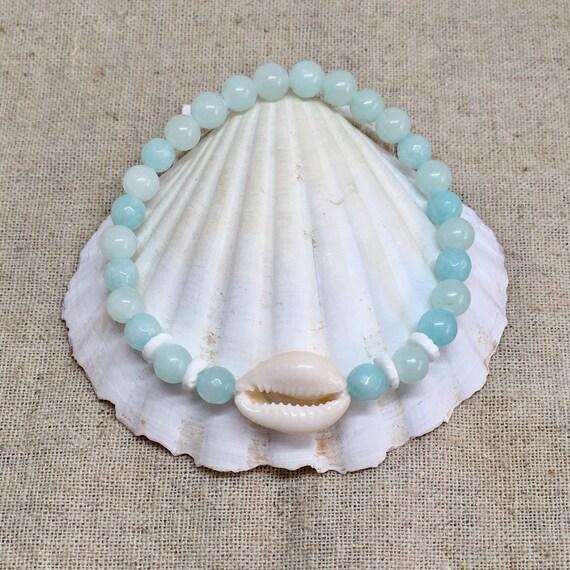 beach jewelry, beachcomber bohemian bracelet, cowrie shell