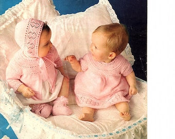 Patons Baby Scene # 180  - Knitting and Crochet Patterns for Babies and Toddlers 1960's - 15 Designs