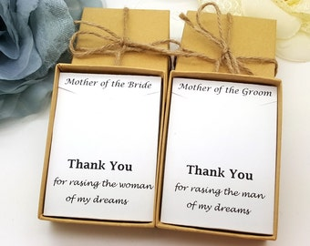 Mother of Groom Necklace, Mother of bride Necklace, Message ,Gift Box, Necklace gift box #1