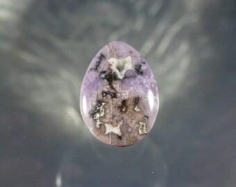 Burro Creek Agate Purple Cabochon Hand Cut Gemstone, pendant, gift, collector, stones, rocks, cab, cabs, jewelry, present  C-2143