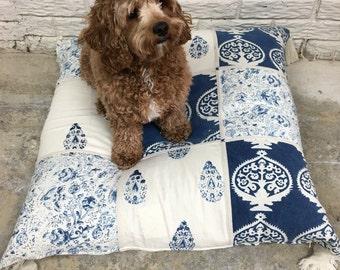 Indigo Hand Made Dog Bed
