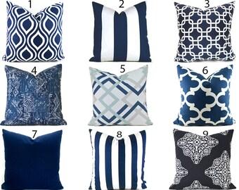 Navy Blue Pillow Covers ANY SIZE Decorative Pillows Pillow Inserts Best Pillow Floor Pillows Euro Pillows Body Pillow Bedding You Choose