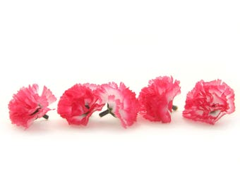 100 Fuchsia Carnations - Artificial Flowers - PRE-ORDER