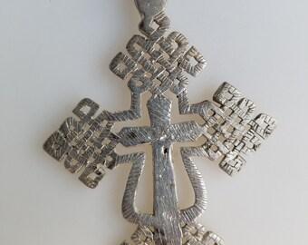 Ethiopian Coptic Cross Pendant, Ethiopian jewelry, Ethiopian pendant, Cross pendant, silver cross