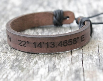 Personalized leather bracelet, leather bracelet, personalized gift, leather gift, personalized gift,