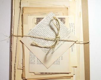 Ephemera Pack, Vintage Paper Pack, Journal Supply, Old Papers, Scrapbook Supply, Paper Ephemera, Old Book Pages, Scrap Pack