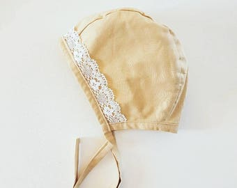Vintage Bonnet *Reversible* / Baby / Toddler / Vintage Floral Floral Vintage Baby Bonnet / Toddler / Baby Hat / Toddler Hat / Winter Hat