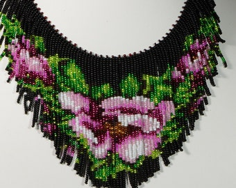 Beaded necklace Tutorial, Seed Beads Necklace Pattern, How beaded necklace