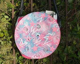 vinyl bag (upcycling art)