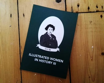 DIGITAL PDF - Illustrated Women in History zine issue III submissions diy publishing feminist comp zine