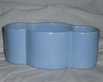 Vintage Blue Stoneware Planter