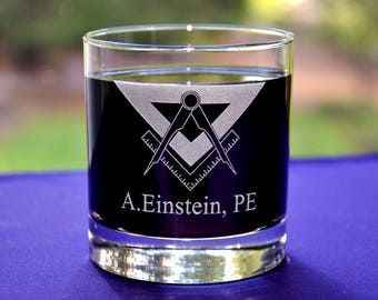 Personalized Engraved Engineer's Glass~Custom Engineering Graduation Gift~PE Gift~Retirement Gift~Employee Appreciation Gift