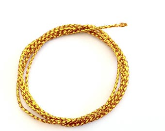 X 1 M cord 0.8 mm gold metallic effect.