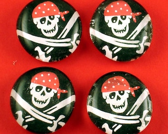 Glass Refrigerator  Magnets Funky Magnets in  Pirate  (M28)