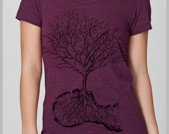 Dust Women's T Shirt Tree American Apparel Tee  Shirt  S, M, L, XL 8 COLORS