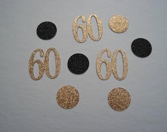 Glitter 60s and Dots Birthday Confetti | Custom Made | Birthday Party Confetti | 60th Birthday Party Décor