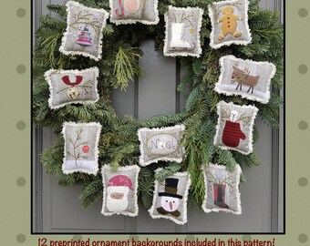 Christmas Ornament pattern with pre-printed fabric! All Through the Night by Bonnie Sullivan!!