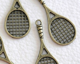 bronze 1 tennis racquet pendant
