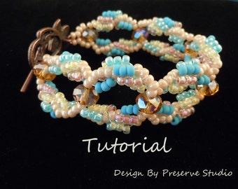 Bracelet Tutorial, Beaded Bracelet Tutorial, Bracelet Pattern, DIY Bracelet, Seed Bead Bracelet Tutorial, Looped Bracelet Tutorial