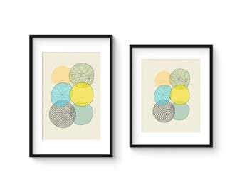 ELEMENTS no.24 - Giclee Print - Mid Century Modern Abstract Modern - in 8x10 and 8x12 Format