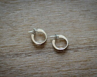 Simple Sterling Silver Hoop Earrings