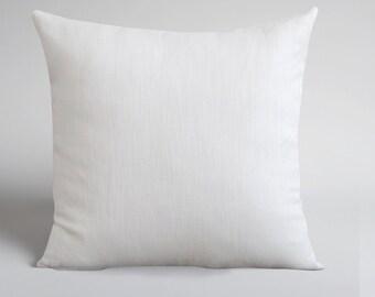 Handmade White Linen Pillow Cover -Decorative Pillows - Throw Pillows - Natural Linen - White Linen - Cushions - Home Decor