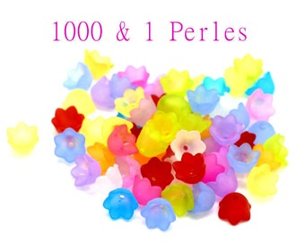 Beads shaped flowers tulips mixed X 20 colors