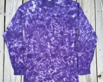 Purple Tie Dye Shirt,  Long Sleeve Tie Dye T-Shirt,  S M L XL 2XL,  Women's Tie Dye Shirt,  Purple Shirt,  Hippie Top