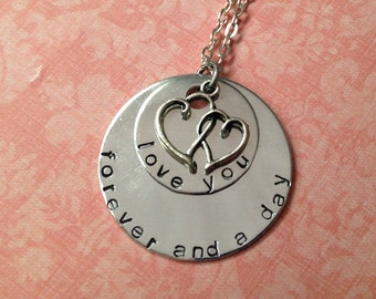 Handstamped Love You Forever and a Day Necklace