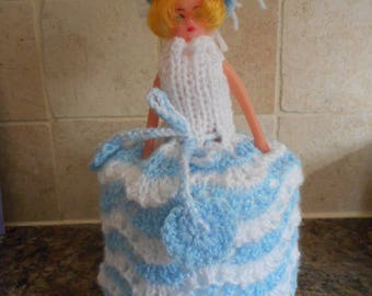 Doll toilet tissue cover