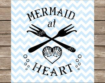 Mermaid at Heart SVG, Dinglehopper svg, Mermaid svg, Mermaid, Mermaids, Heart svg, Little Mermaid, Disney svg, Ariel svg, Beach svg Beach