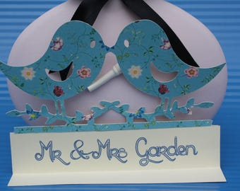Cake topper, bride and groom cake top