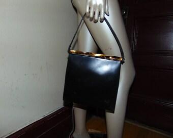 Koret Black Leather Vintage Purse