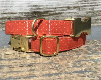 Dog Collar Girl, Orange Dog Collar, Gold Dog Collar, Dog Collar Male, Fall Dog Collar, Large Dog Collar, Dog Collar For Girls, Dog Collars
