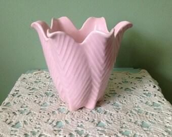 Vintage Pink USA Vase