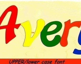 Wooden Custom Name Puzzle - any ONE name (Upper/lowercase)