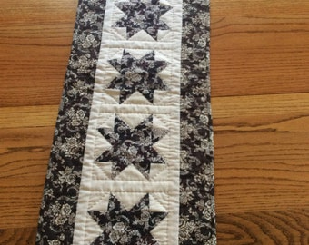 Brown star table runner / wall hanging