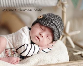 Baby Newsboy Hat, Newborn Newsboy Hat, Baby Boy Hat, Baby Boy Clothes, Baby Hat, Baby Boy Hat Crochet, Knit Hat Baby Boy, Newborn Photo Prop