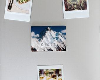 Ceramic Fridge Magnet, K2 Mountain Climbing Alpinism Pakistan Himalayas Motivational, Funny Fridge Magnets, Refrigerator Magnet, FM149